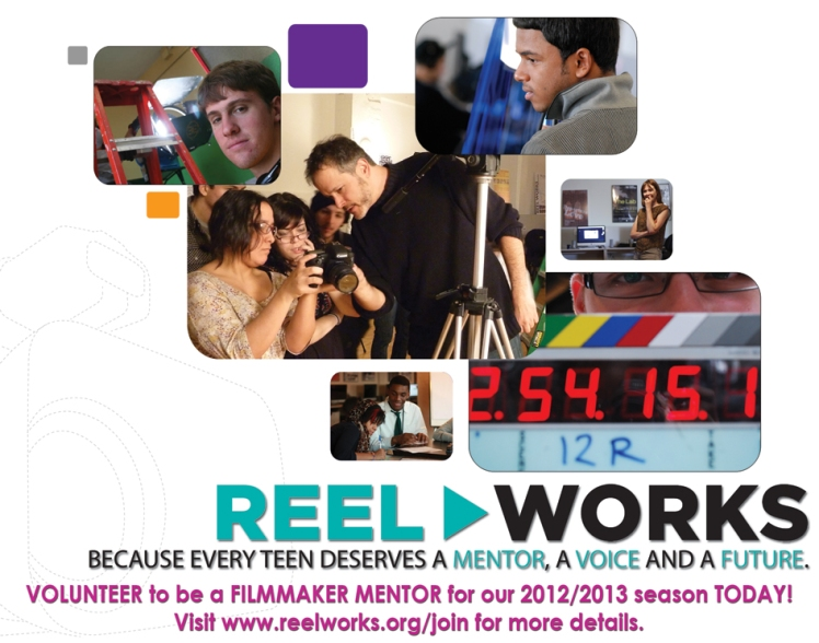 Become a filmmaker mentor at Reel Works!
